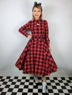 他の写真1: ☆Collectif☆MARA CHECKED SHIRT DRESS Red 15号