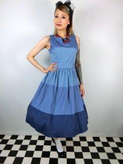 画像2: ☆Lindy Bop☆Audrey Blue Striped Swing Dress 13号