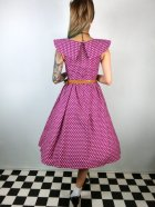 他の写真3: ☆Lindy Bop☆Hetty Purple Polka Dot Print Swing Dress 13号