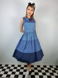 ☆Lindy Bop☆Audrey Blue Striped Swing Dress 11号