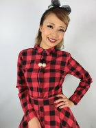 他の写真2: ☆Collectif☆MARA CHECKED SHIRT DRESS Red 15号