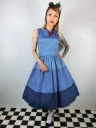 他の写真1: ☆Lindy Bop☆Audrey Blue Striped Swing Dress 13号