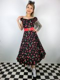 ☆Collectif☆Dolores Doll 50S CHERRY PRINT DRESS 17号