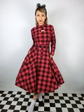 ☆Collectif☆MARA CHECKED SHIRT DRESS Red 15号