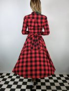 他の写真3: ☆Collectif☆MARA CHECKED SHIRT DRESS Red 15号