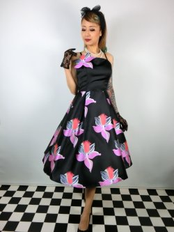 画像2: ☆Collectif☆  VINTAGE LINETTE ORCHID SWING DRESS 15号