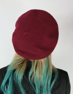 画像4: ☆Collectif☆ CARRIE PLAIN BERET Burgundy