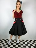 ☆Collectif☆STELLA SWING SKIRT Black/Red 7号