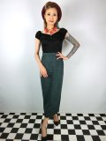 ☆Collectiff☆ VINTAGE MIRANDA ELVEDEN CHECK MIDI SKIRT Green 13号