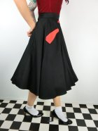 他の写真2: ☆Collectif☆STELLA SWING SKIRT Black/Red 15号