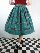 他の写真3: ☆Collectif☆VINTAGE JASMINE EVERGREEN CHECK SWING SKIRT Green 15号