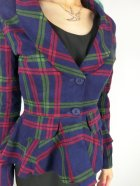 他の写真2: ☆Collectif☆VINTAGE MERYL DARLING CHECK SUIT JACKET Navy 17号