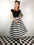 ☆Collectif☆VINTAGE MARILU STRIPED SWING SKIRT 9号