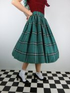 他の写真2: ☆Collectif☆VINTAGE JASMINE EVERGREEN CHECK SWING SKIRT Green 15号