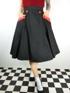 他の写真1: ☆Collectif☆STELLA SWING SKIRT Black/Red 17号