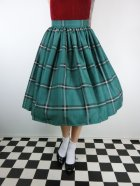 他の写真1: ☆Collectif☆VINTAGE JASMINE EVERGREEN CHECK SWING SKIRT Green 9号