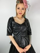 他の写真1: ☆Collectif☆DITA PU PEPLUM TOP 13号