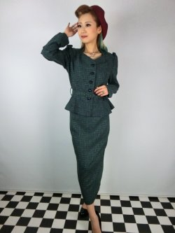 画像1: ☆Collectif☆DIANA ELVEDEN CHECK BLAZER 15号