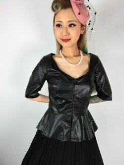 画像2: ☆Collectif☆DITA PU PEPLUM TOP 13号