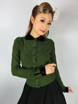 画像1: ☆Collectif☆ IMOGEN CARDIGAN Olive Green 9号