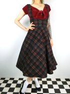 他の写真1: ☆Collectif☆NATALIA WARM CHECK SWING SKIRT Black 7号