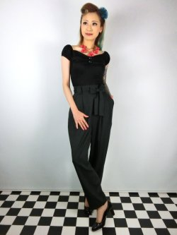 画像1: ☆Collectif☆ SOPHIE TROUSERS Green 17号