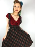 他の写真2: ☆Collectif☆NATALIA WARM CHECK SWING SKIRT Black 13号