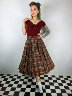 画像1: ☆Collectif☆ODETTE HIGHLAND MIDI SKIRT 13号