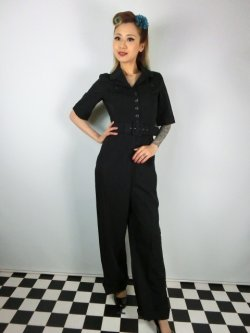 画像1: ☆Collectif☆ VINTAGE ZOE JUMPSUIT Black 15号