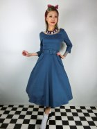 他の写真1: ☆Collectif ☆ IVY CREPE SWING DRESS Blue 11号
