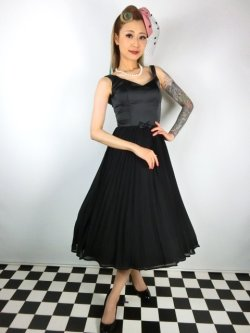 画像2: ☆Collectif☆ MELISSA SWING DRESS Black 13号