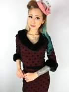 他の写真2: ☆Collectif☆PATRICE FAUX FUR COLLAR DRESS Wine 15号