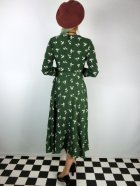 他の写真3: ☆Collectif ☆ WILLA PRESSED FLORAL WRAP DRESS Olive Green 7号