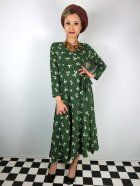他の写真1: ☆Collectif ☆ WILLA PRESSED FLORAL WRAP DRESS Olive Green 15号