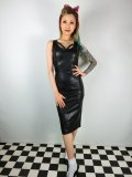 ☆Collectif☆JULIA PU PENCIL DRESS Black 15号