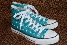 他の写真1: ☆Lindy Bop☆Teal Polka Dot Hi-Top Sneakers UK4(日本サイズ 約22.5cm)