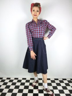 画像2: ☆Freddies of Pinewood☆Blue Denim Jeans Skirt (26インチ) 9号