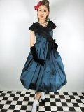 ☆Lindy Bop☆Amber Lea Teal Taffeta Swing Dress 9号