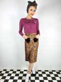 ☆Collectif☆VIOLETTA LEOPARD PRINT SKIRT 9号