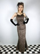 他の写真1: ☆Collectif☆DELILAH LEOPARD VELVET MAXI DRESS 11号