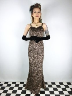 画像2: ☆Collectif☆DELILAH LEOPARD VELVET MAXI DRESS 11号