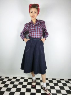 画像1: ☆Freddies of Pinewood☆Blue Denim Jeans Skirt (26インチ) 9号