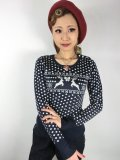 ☆HELL BUNNY☆Belle Jumper Navy 13号