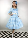 ☆H&R☆Sweet Blue Checked Swing Dress 11号