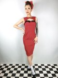 ☆HELL BUNNY☆Miley Pencil Dress Red 13号