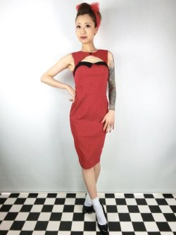 画像1: ☆HELL BUNNY☆Miley Pencil Dress Red 13号
