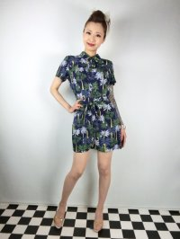 ☆Collectif☆ FROU PALM TREE PRINT PLAYSUIT 13号