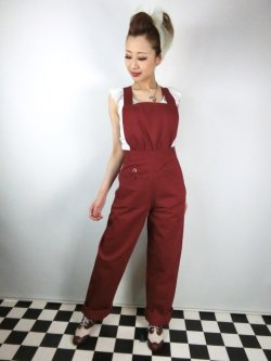 画像2: ☆Freddies of Pinewood☆ Burgundy Home Companion Dungarees (32インチ) 15号