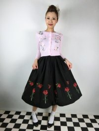 ☆HELL BUNNY☆Rosa Rossa Skirt Black 9号