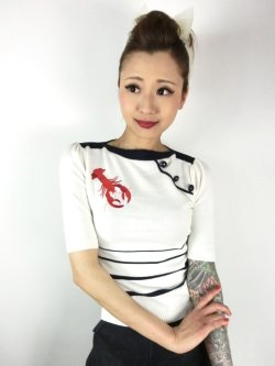 画像1: ☆Collectif☆ARMANDA LOBSTER JUMPER White 15号